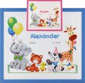 Pako borduurpakket geboortetegel Paulien/Alexander: dieren 226.310