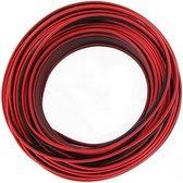 KOPP luidsprekersnoer 2x 0,5mm rood/zwart, 25 meter lang