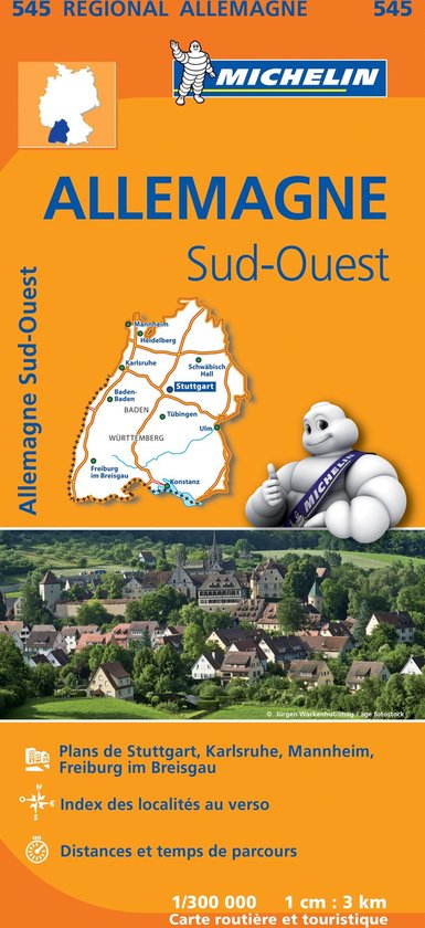 Michelin 545 Allemagne Sud-Ouest - Zuidwest-Duitsland - none |