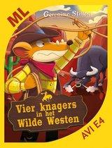 Boek cover Makkelijk lezen - Vier knagers in het Wilde Westen van Geronimo Stilton (Hardcover)