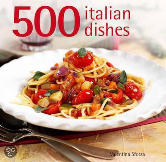 Boek cover 500 Italian Dishes van Valentina Sforza (Hardcover)