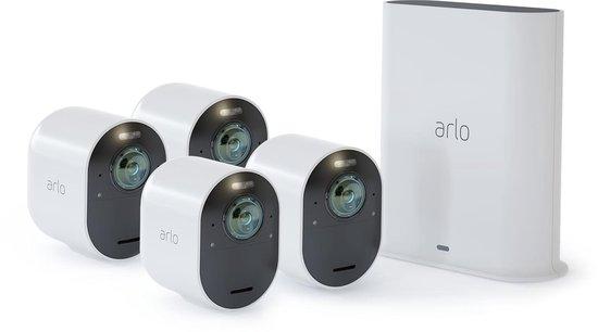 ARLO Ultra 4K - 4 beveiligings-/IP-camera's - Met basisstation