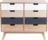 Leitmotiv ladekast hout 8 lades - Cabinet Snap wood