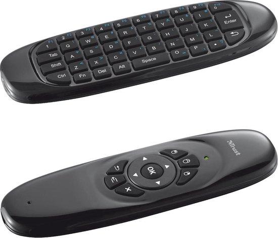 Trust Gesto - Draadloos Smart TV Toetsenbord en Muis - Qwerty - Trust