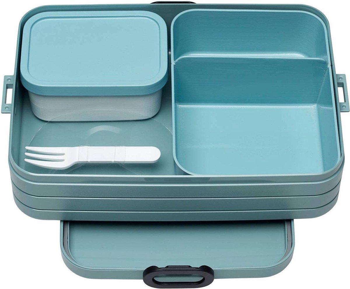 Mepal – Bento lunchbox Take a Break large- inclusief bento box – Nordic green – Lunchbox voor volwas
