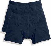 Klassieke boxers Fruit of the Loom Donkerblauw maat L 2-pack
