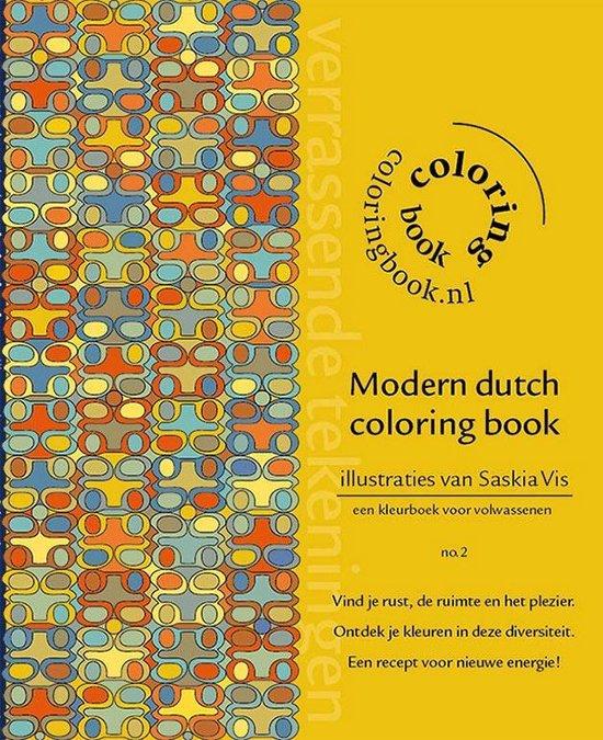 Modern dutch coloring book - Saskia Vis |
