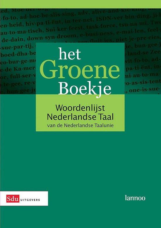 Boek cover Het Groene Boekje van Nederlandse Taalunie (Hardcover)