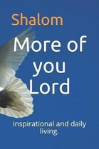 More of You Lord