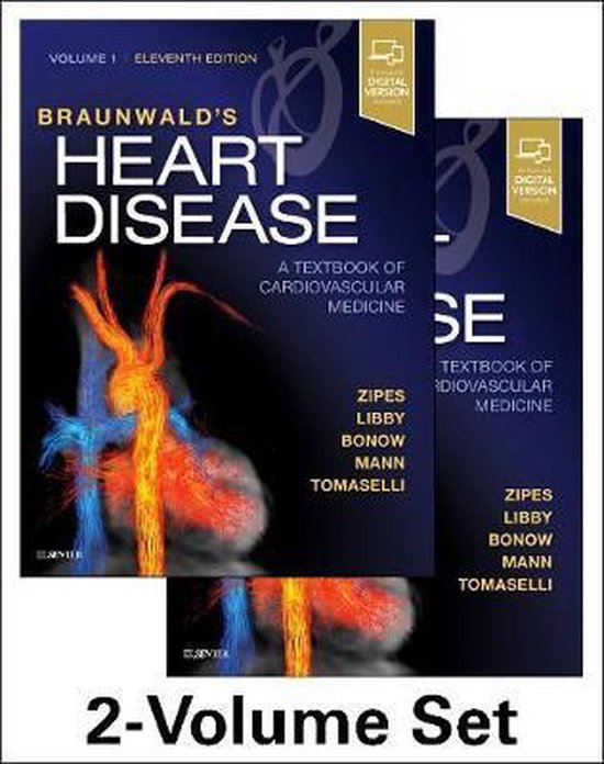 Boek cover Braunwalds Heart Disease: A Textbook of Cardiovascular Medicine, 2-Volume Set van Douglas Zipes (Hardcover)