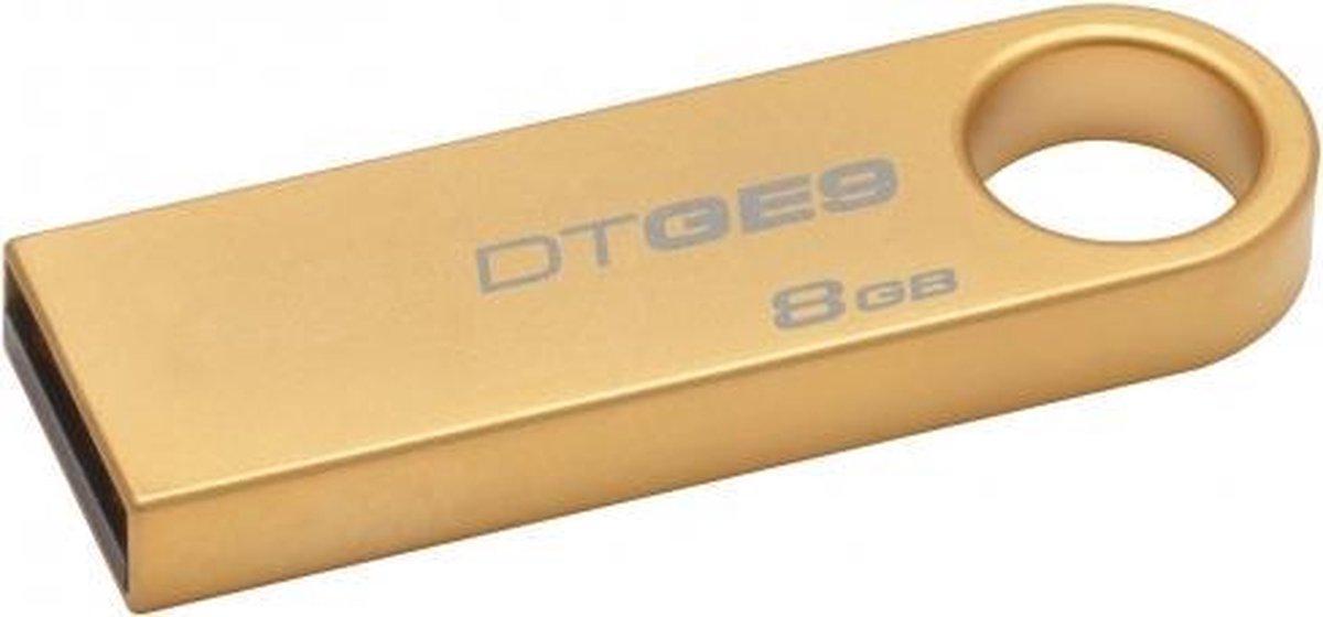 Kingston Technology DataTraveler GE9 8GB USB flash drive USB Type-A 2.0 Goud - Kingston