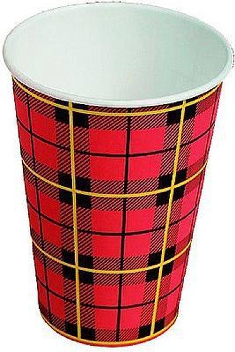Scotty Koffiebeker - Rood Karton - 300 stuks - 180 cc