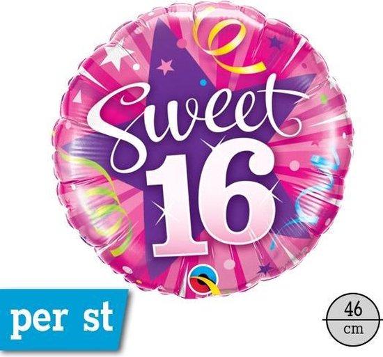 Folie ballon Sweet 16, 46 cm