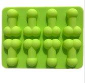 Piemel vorm voor ijsblokjes, chocolade of snoepjes   Maak 8 piemeltjes met deze siliconen mal
