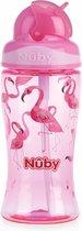 Nûby Flip-It drinkbeker uit Tritan™ Roze Flamingo - 360ml - 3jaar+