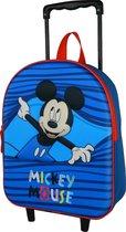 Mickey Mouse kleutertrolley rugzak Bleu