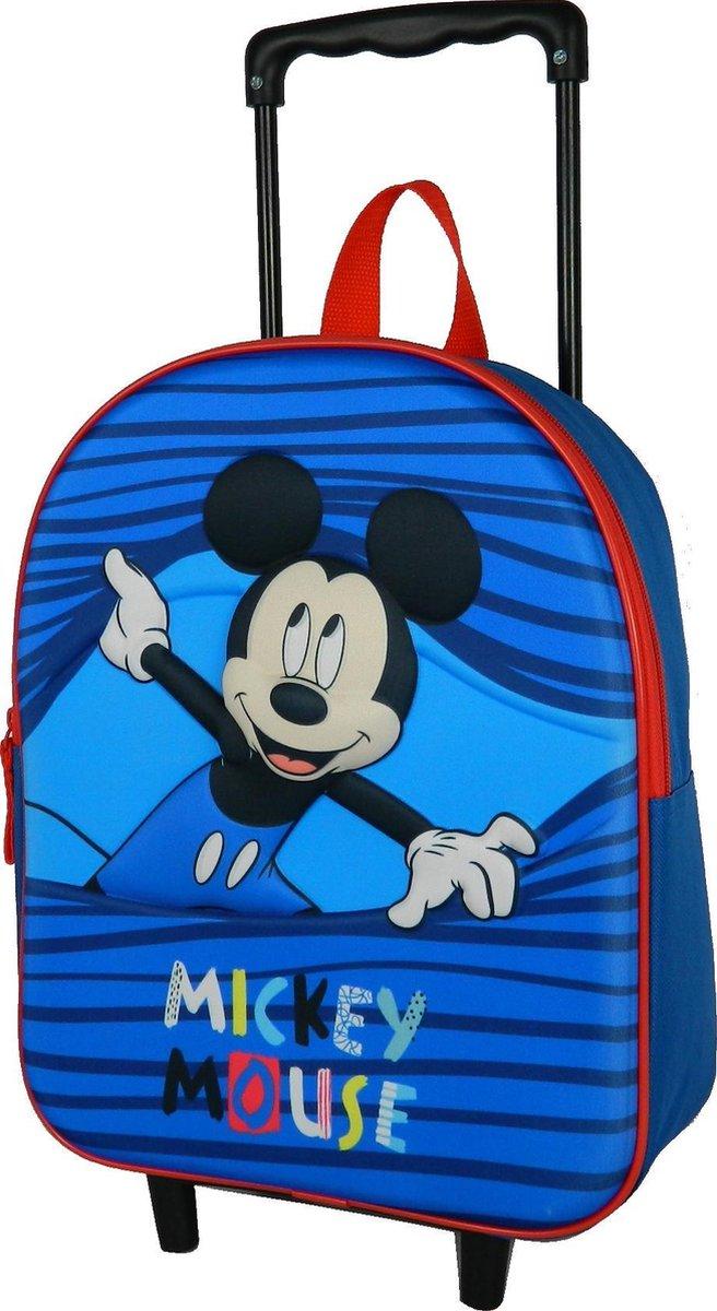 Mickey Mouse peuter trolley rugzak Bleu