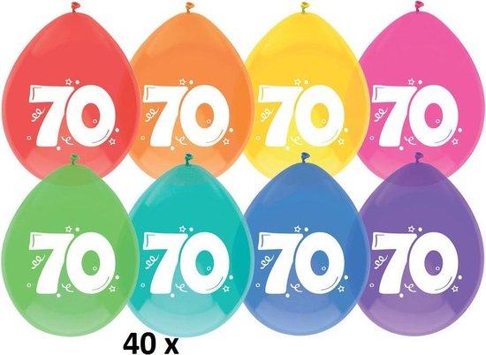 40x ballonnen - 70 jaar - 30 cm