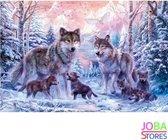 "Diamond Painting ""JobaStores®"" Wolven Familie - volledig - 40x60cm"