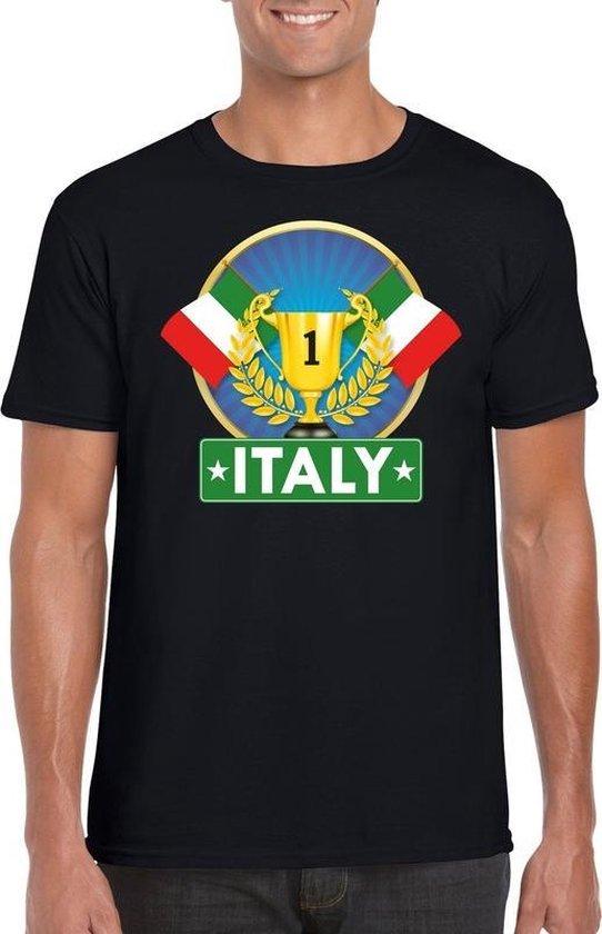 Zwart Italiaans kampioen t-shirt heren - Italie supporters shirt L