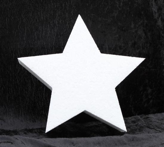 Piepschuim vorm ster 30 cm