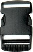 Klikgesp 50mm Zwart; 5 stuks