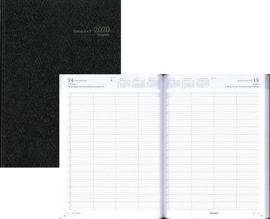 Afbeelding van Bremax 1 agenda 2020 - A4 - 1dag/1pag - 4 koloms - Zwart