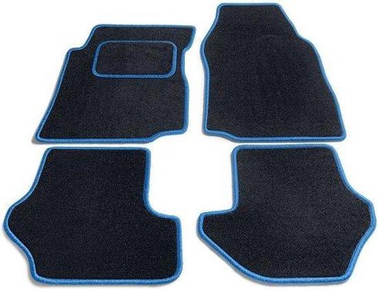 Bavepa Complete Premium Velours Automatten Zwart Met Lichtblauwe Rand Renault Twingo 1993-2007