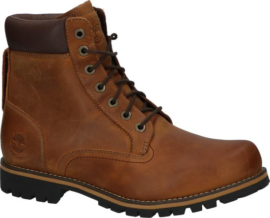 Timberland - Rugged 6 In Plain Toe - Bottines stoer - Heren - Maat 41,5 - Bruin;Bruine - 210 -Medium Brown
