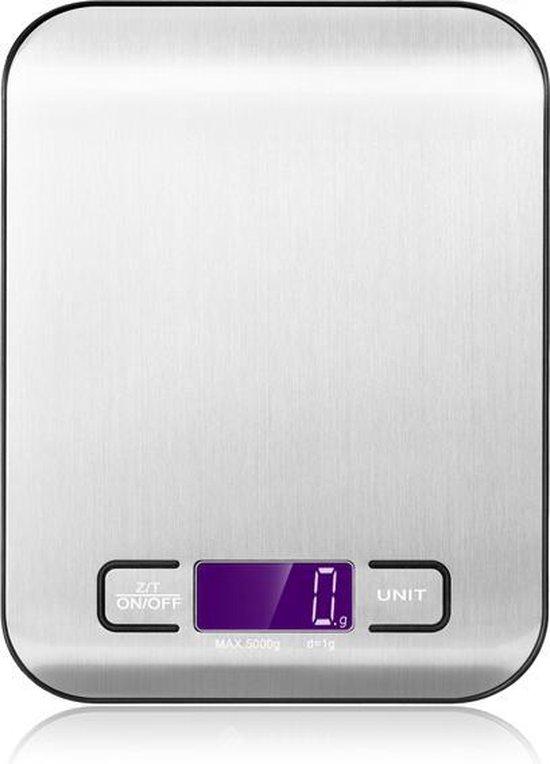 Digitale Keukenweegschaal - Precisie Weegschaal - Tot 5000 Gram ( 5kg )