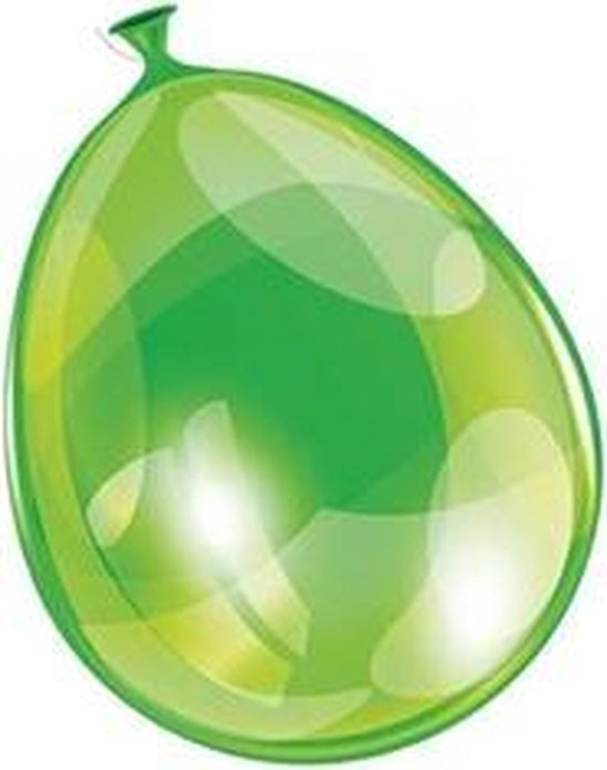 Ballon neon groen 25 cm 100 stuks - .