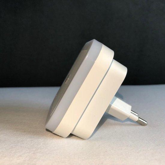 LED nachtlampje met lichtsensor - nachtlamp stopcontact - LED Lamp - baby - wit licht - woonkamer - badkamer - slaapkamer - kinderkamer - donker - licht - nacht - vierkant