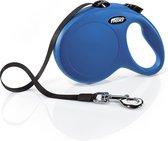 Flexi New Classic Tape - Hondenriem - Blauw - L - 5 m - (<50 kg)