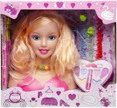 Make-up pop – Kappop – Kaphoofd -  Kapkop met accessoires + make up(20cm)
