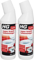 HG Super Krachtige Toiletreiniger - 500 ml - 2 Stuks + 2 Microvezeldoeken !