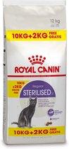 Royal Canin Sterilised 37 - Kattenvoer - 10+2 kg Bonusbag