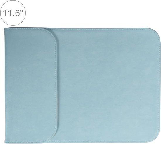 Let op type!! 11 6 inch PU + nylon laptop tas Case Sleeve notebook draagtas  voor MacBook  Samsung  Xiaomi  Lenovo  Sony  DELL  ASUS  HP (blauw)