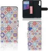 Bookcase Huawei Nova 5T   Honor 20 Tiles Color