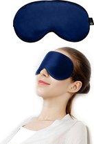 SIMIA™ Premium Zijden Slaapmasker - Luxe Verstelbare Oogmasker - 100% Zijde - Slaapbril - Reismasker - Blinddoek - Powernap - Meditatie - Yoga - Slaap - Reis - Ontspanning - Zijdezacht - Anti Rimpel - Cadeau Tip - Marine Blauw