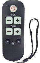 Senioren afstandsbediening voor ALLE Philips televisie's