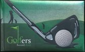 Golfers record book