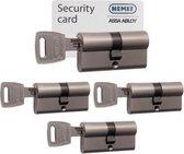 Nemef veiligheidspofielcilinder met kerntrek + security card 142/9 4 s