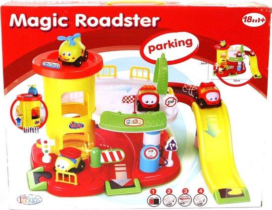 Fun For Kids Magic Roadster Parkeergarage met Auto's en Geluid 52×34 cm