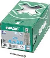 Spax Spaanplaatschroef lenskop RVS T-Star T20 4.5x50mm (per 200 stuks)