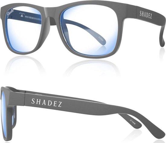 Beeldschermbril kind - Gamebril - Computerbril - Shadez - Grijs 7-16 jr