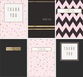 Bedankkaarten - Set van 6 x bedankkaart