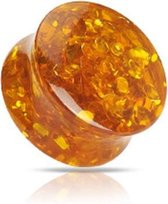 6 mm Double-flared plug Amber