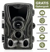 Djém® Wildlife Camera – Foto's + Video's 1080P HD - IP65 waterdicht – Wildcamera - Spy Camera - Bewakingscamera