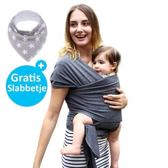 Product: Baby Garden draagdoek grijs - Ergonomisch - Original - Gratis slabbetje, van het merk Baby Garden