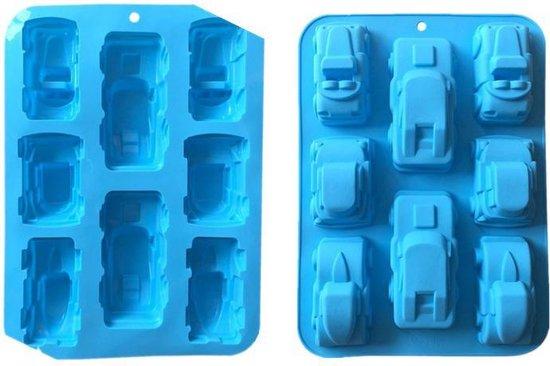 ProductGoods - Chocoladevorm mal Auto - Siliconen vorm voor ijsblokjes ijsklontjes chocolade fondant - 8 stuks